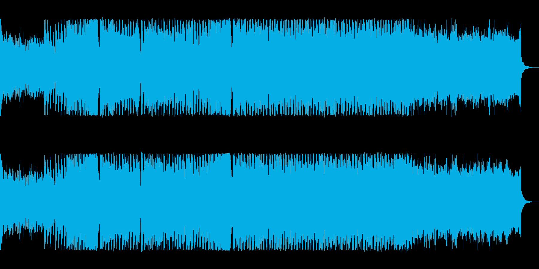 疾走感あるシンセサイザーの曲の再生済みの波形