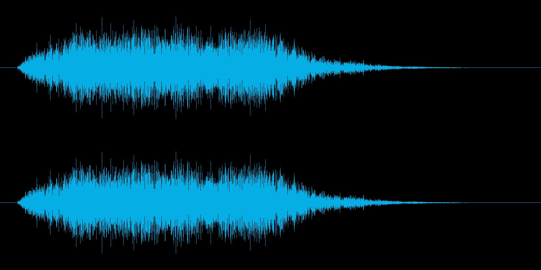 ホラーな低音コーラス ブラス 恐怖の場面の再生済みの波形