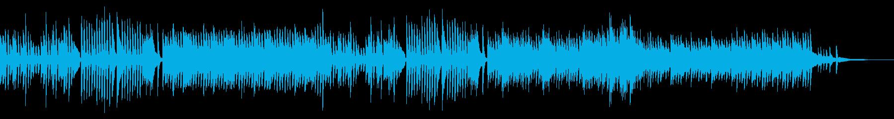 いたずらしているようなピアノ曲の再生済みの波形