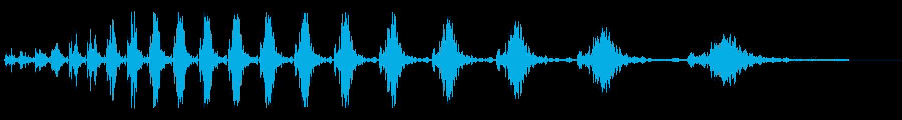 ブルブルシュッシュッシュの再生済みの波形