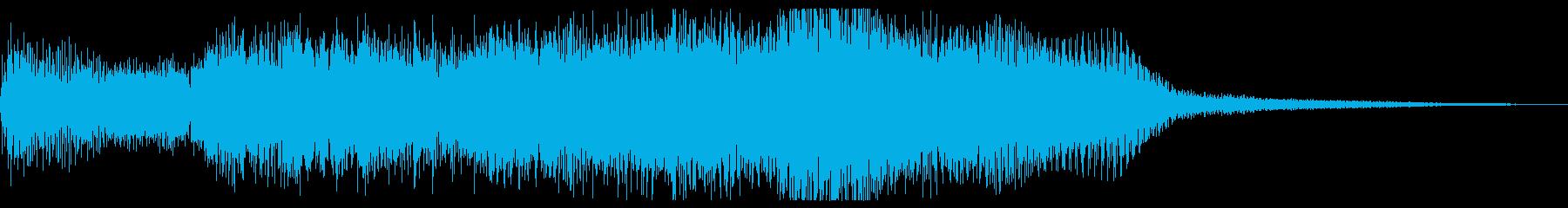 暗いファンタジー、魔法的なジングルの再生済みの波形
