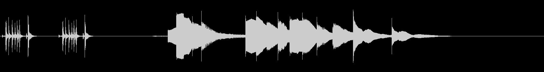 ジングル用オルゴール楽曲05-1の未再生の波形