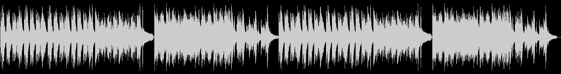静謐な和風曲・ピアノソロの未再生の波形