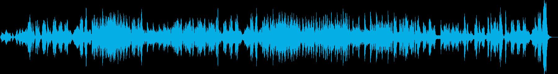 スピカートを多用した、リズミカルな曲。の再生済みの波形