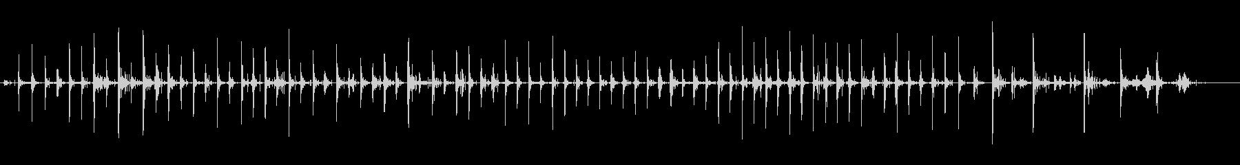 屋上エンドウ砂利:重いブーツ:実行...の未再生の波形