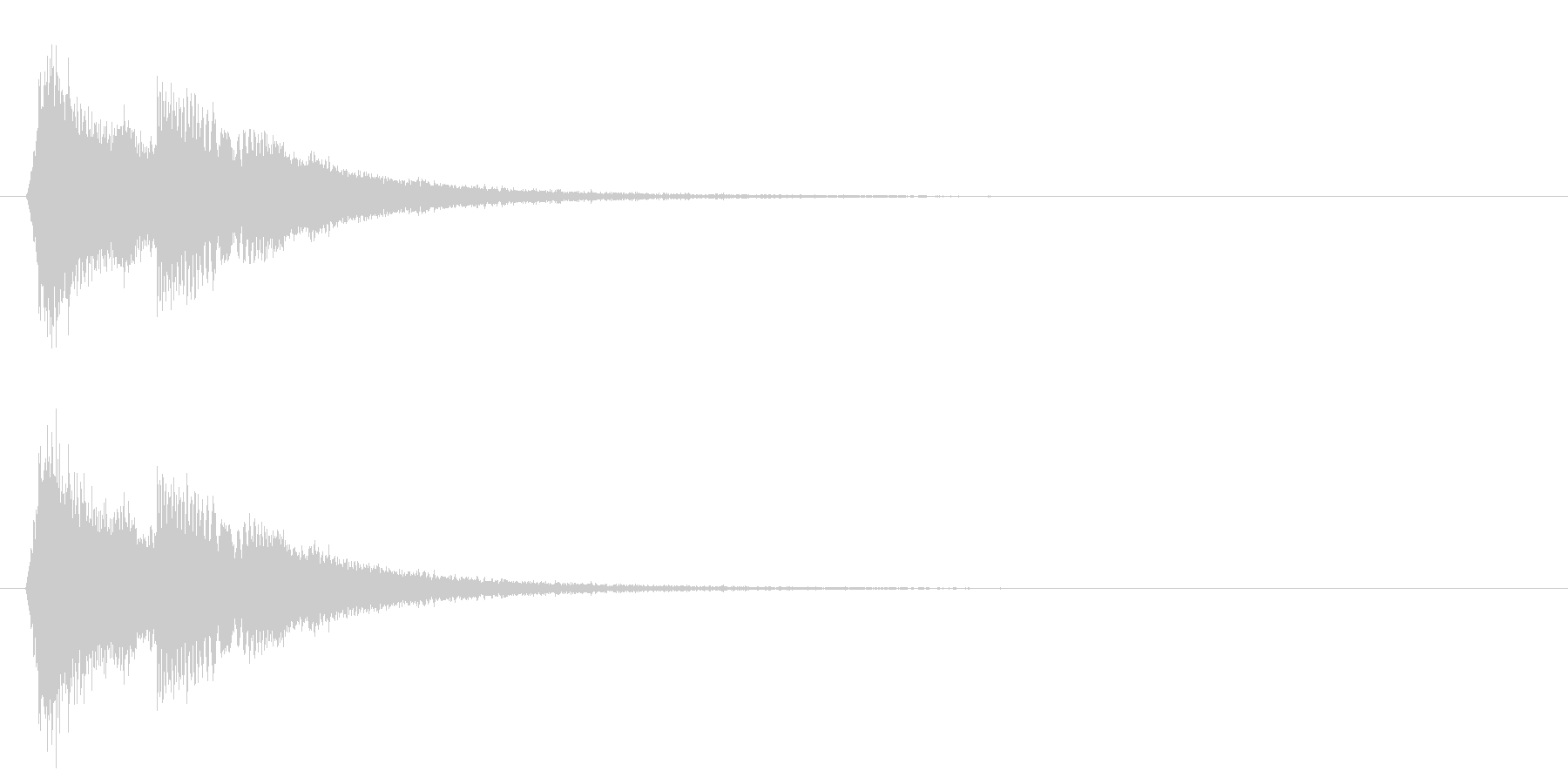 タッチ音/キラキラ/回復の未再生の波形
