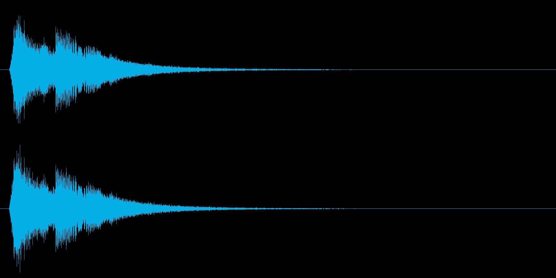 タッチ音/キラキラ/回復の再生済みの波形