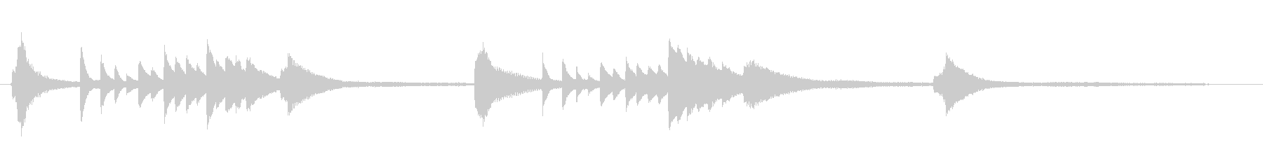 ピアノの幻想的なジングルの未再生の波形