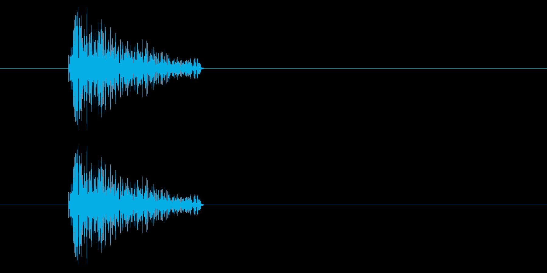 ジャン!レトロなオケヒ_音程低めの再生済みの波形