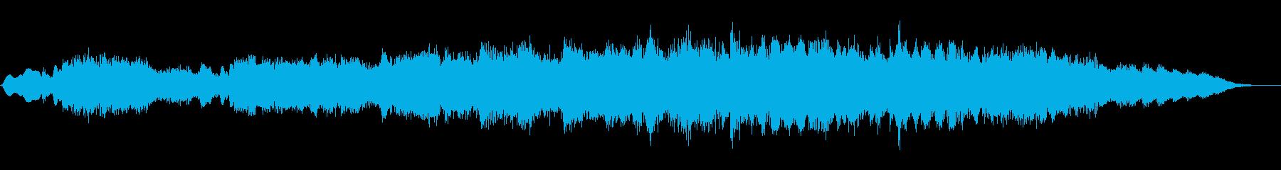 ジングル 感動的な夕方の雰囲気-管弦楽器の再生済みの波形