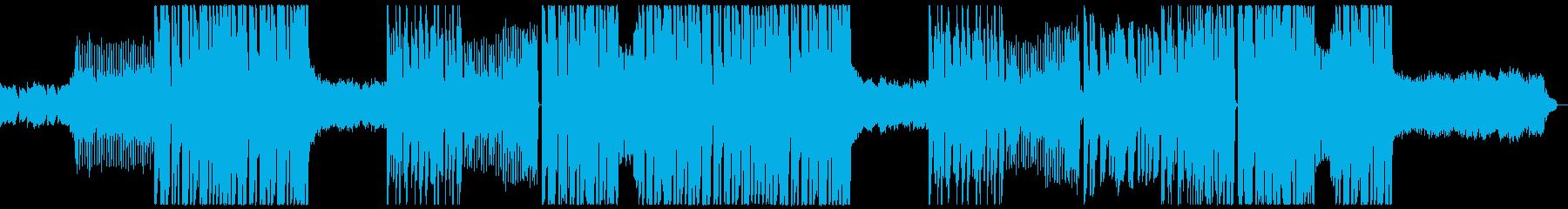 キラキラ可愛いfuturebassの楽曲の再生済みの波形
