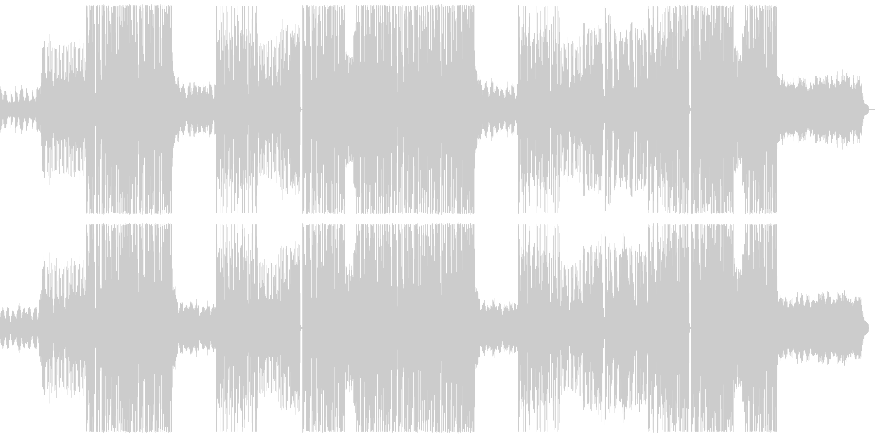 キラキラ可愛いfuturebassの楽曲の未再生の波形