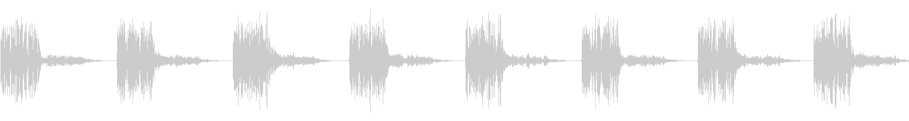 タタタタ(走る音、逃走音)の未再生の波形