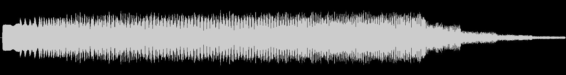 ヒュ~~ンという効果音の中くらいバージ…の未再生の波形