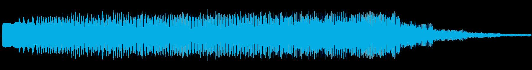 ヒュ~~ンという効果音の中くらいバージ…の再生済みの波形