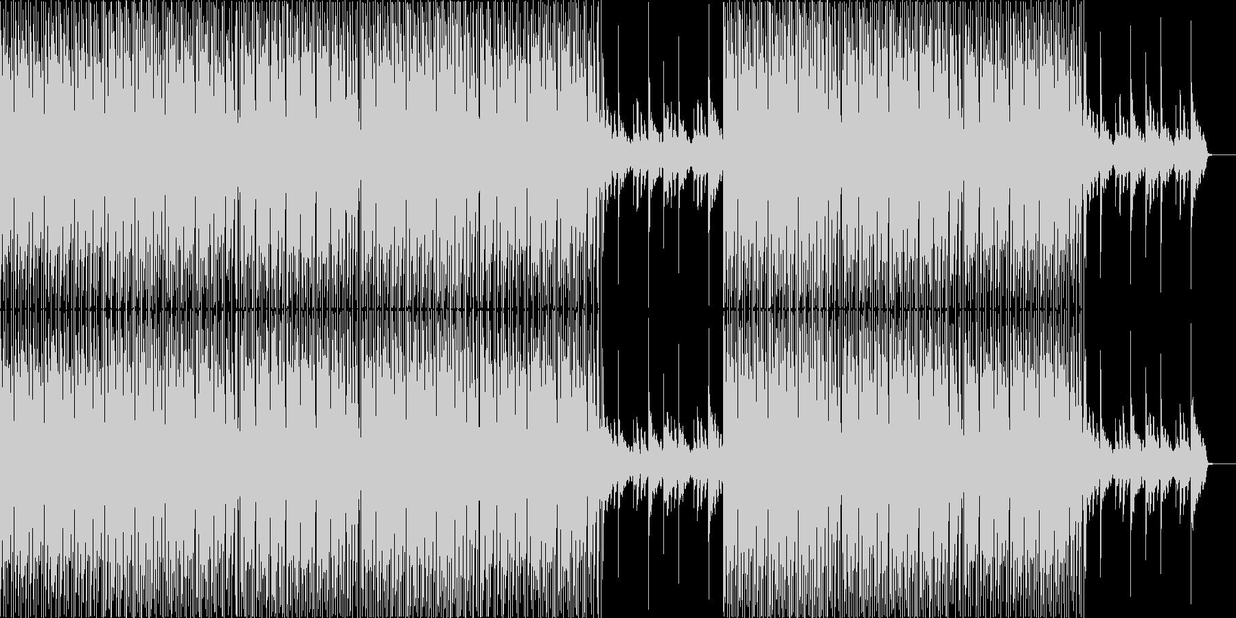 ちょっとした多幸感のあるミニマルハウスの未再生の波形