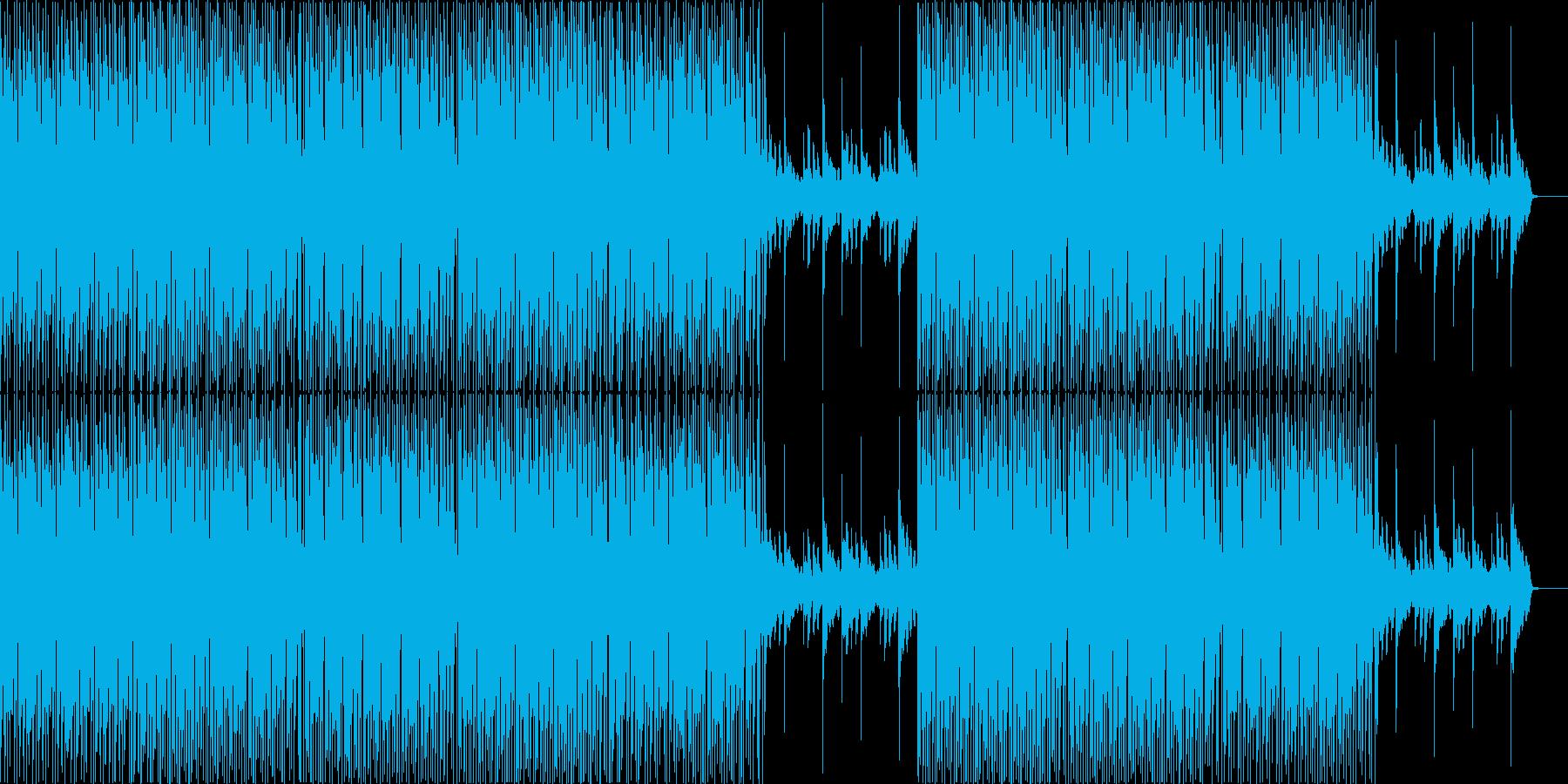 ちょっとした多幸感のあるミニマルハウスの再生済みの波形