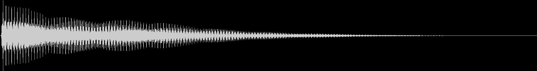 ポーン 電子 鐘 低め 合図の未再生の波形