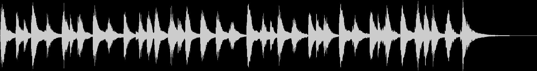 ゆるくて気の抜けた雰囲気のサウンドロゴの未再生の波形