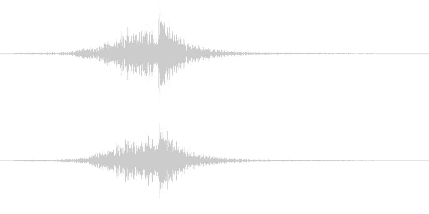 パーカッション-インパクトドラムロールの未再生の波形