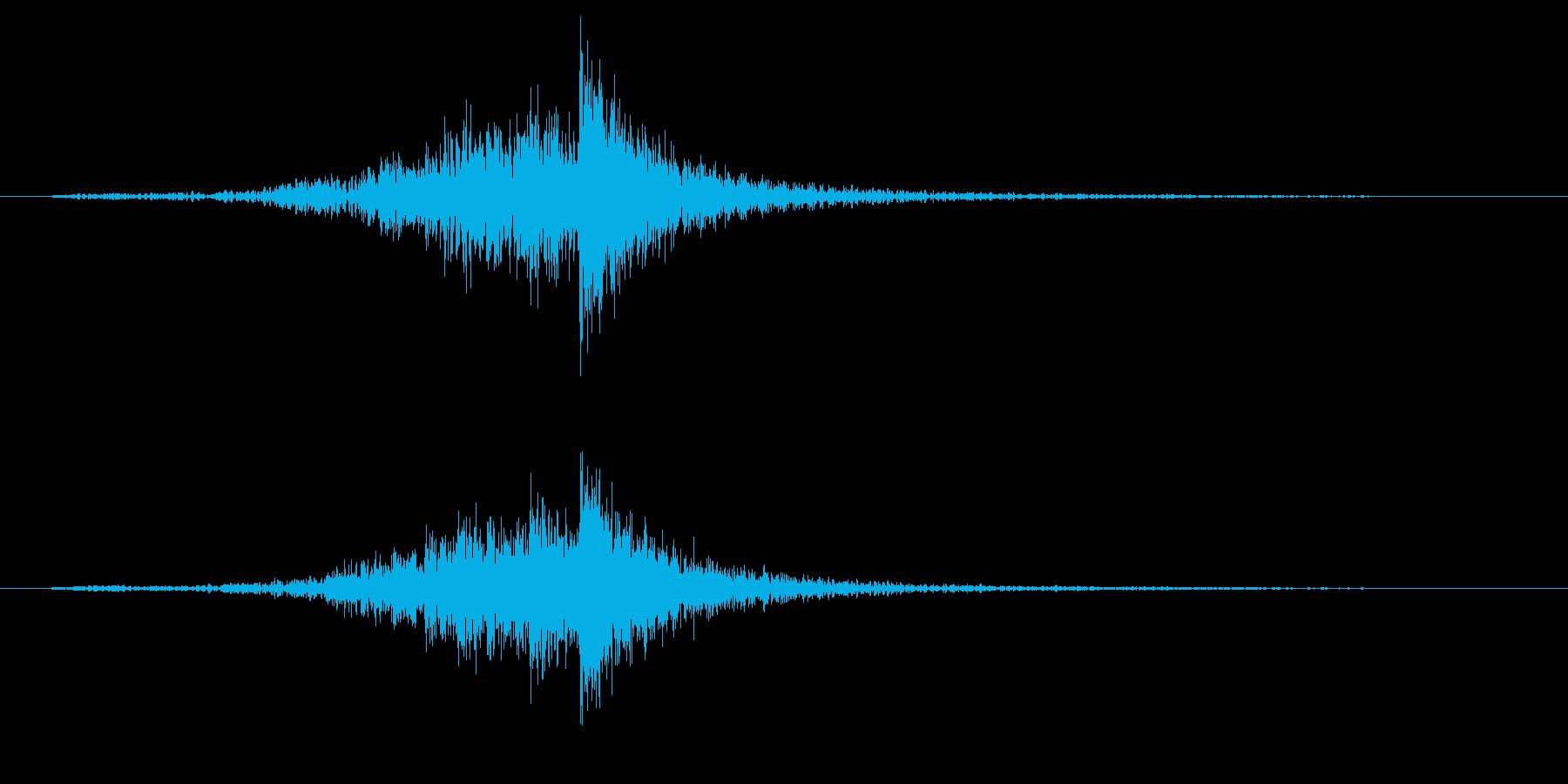 パーカッション-インパクトドラムロールの再生済みの波形