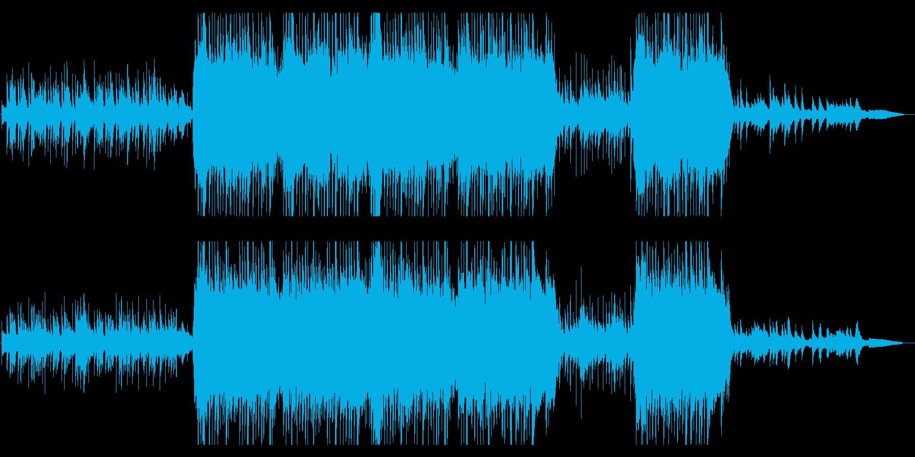 中国楽器とピアノの旋律が印象的なBGMの再生済みの波形