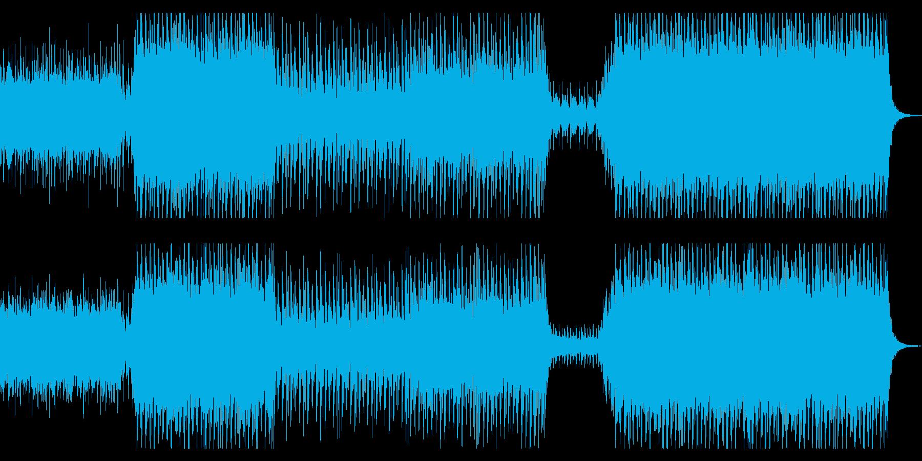 期待感のあるJPOP風BGMの再生済みの波形