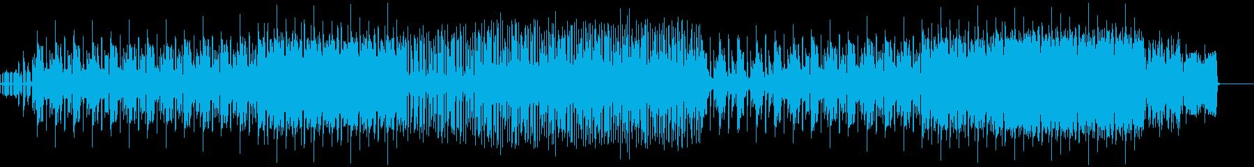 小気味良いリズムと情緒あるメロディの曲の再生済みの波形
