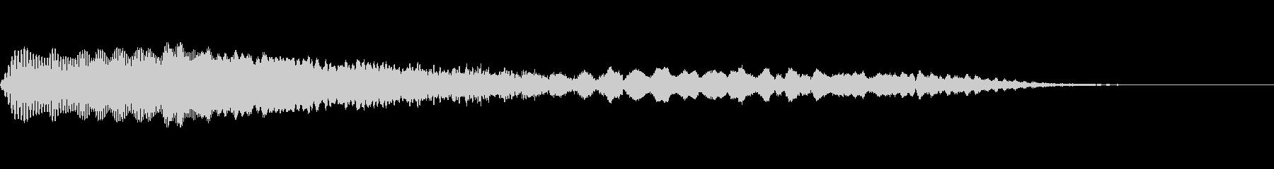 ソーサー離陸の未再生の波形
