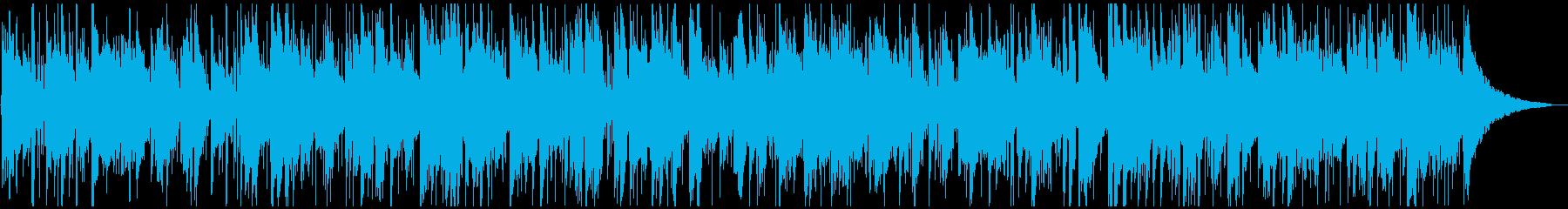 パーティーの席の静かなBGMの再生済みの波形