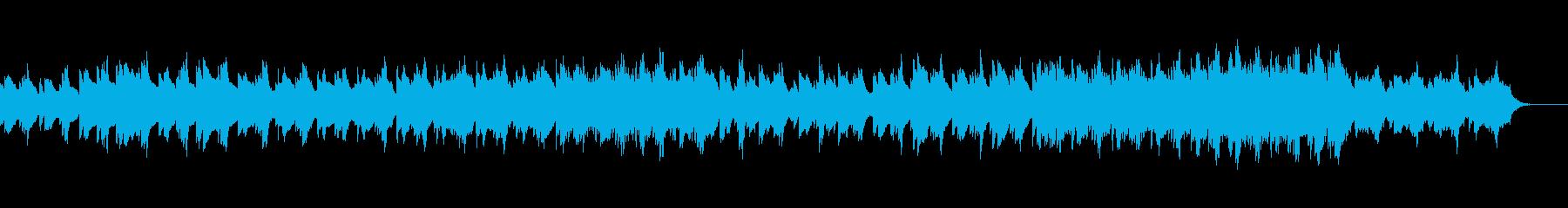 さびしい雰囲気のエレピサウンドBGMの再生済みの波形