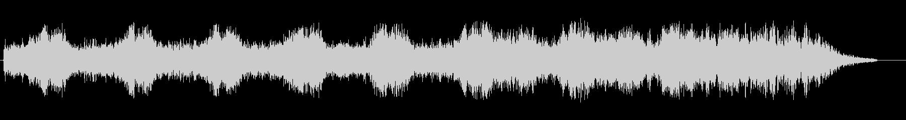 つくつくボウシ(セミの鳴き声)の未再生の波形