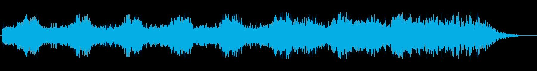 つくつくボウシ(セミの鳴き声)の再生済みの波形
