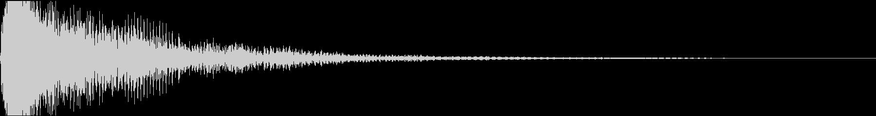 ミ単音のオーケストラルヒットの未再生の波形
