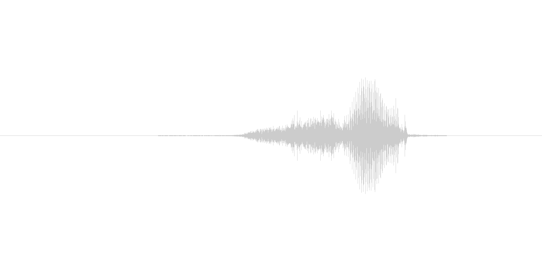 4(し)の未再生の波形