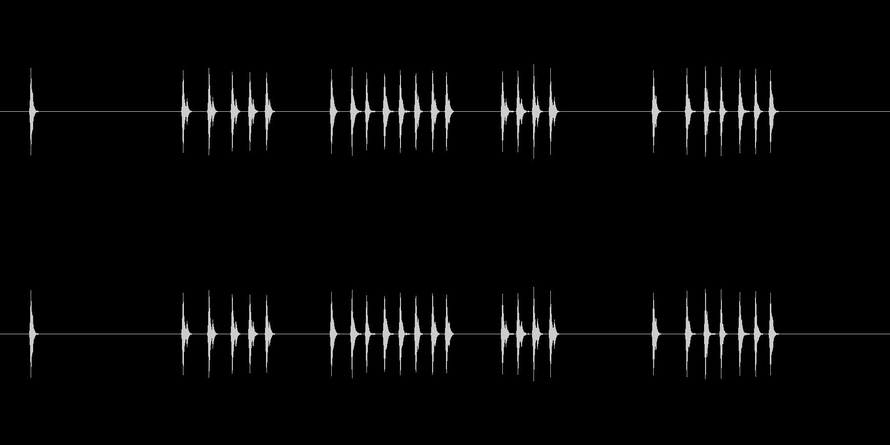 ユーザーインターフェイス音 キー入力の未再生の波形