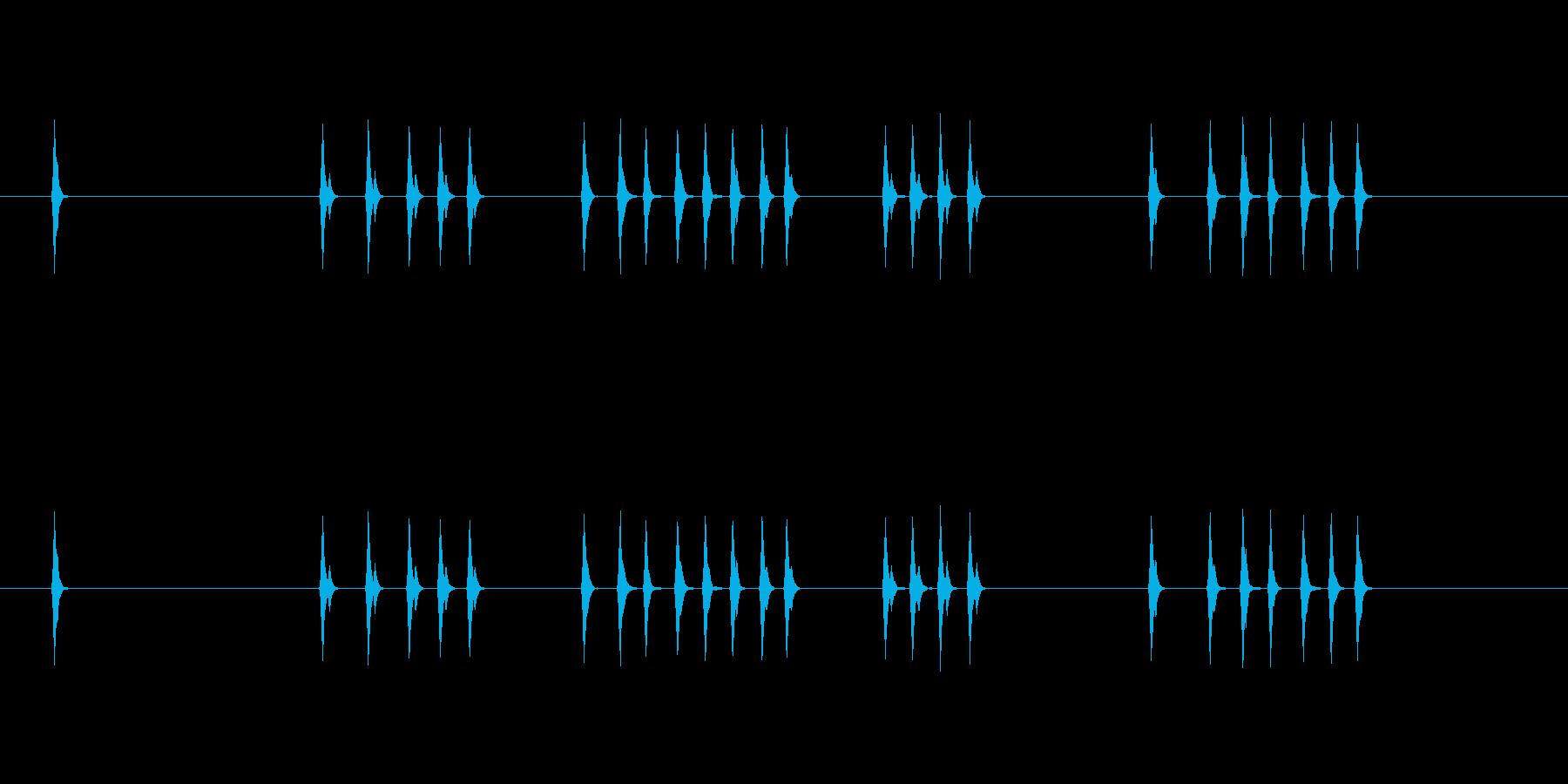ユーザーインターフェイス音 キー入力の再生済みの波形
