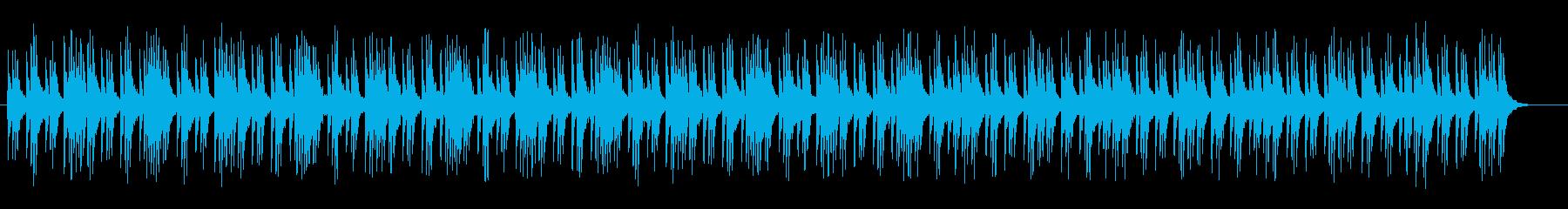 緊張感のある打楽器サウンドの再生済みの波形