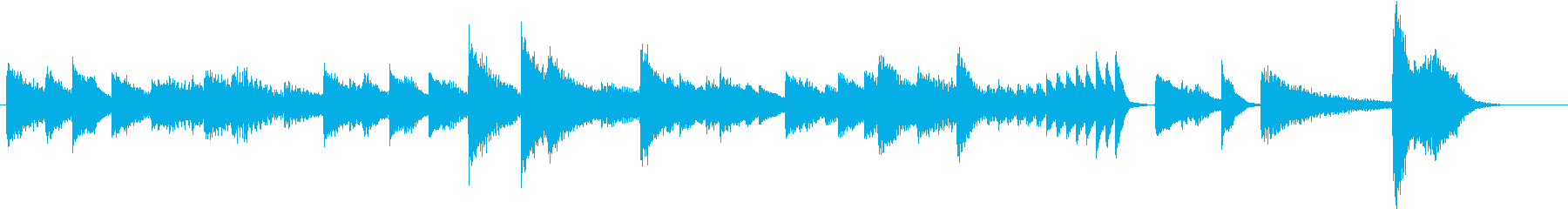 猫動画に♪おしゃれなジャズピアノジングルの再生済みの波形