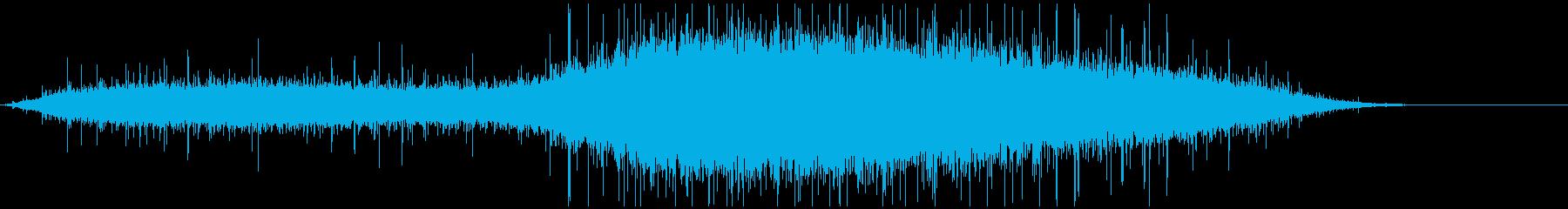 ライブ開始直前の「拍手→大歓声」の再生済みの波形