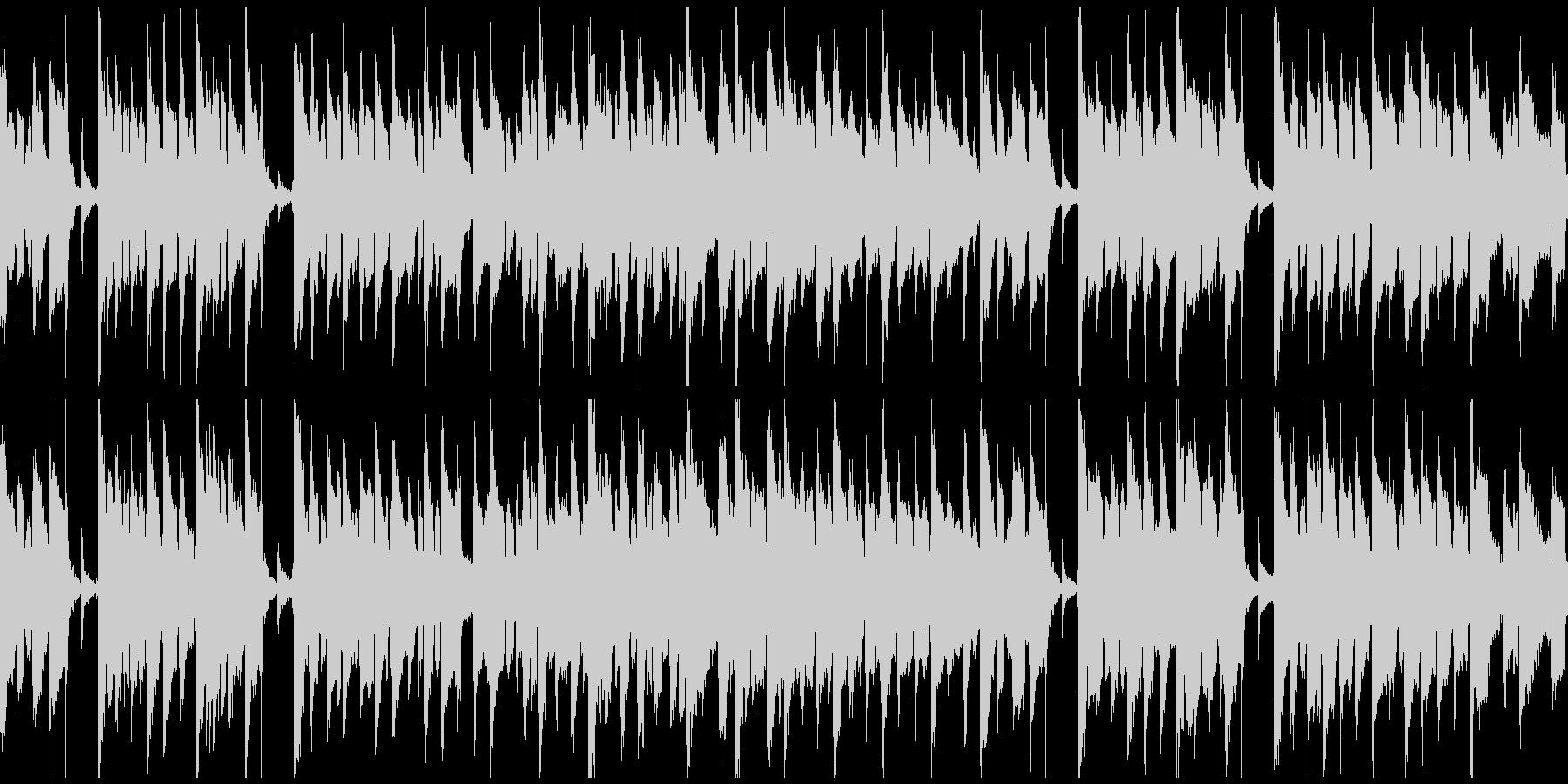 脱力リコーダー、ぐうたら、怠惰※ループ版の未再生の波形