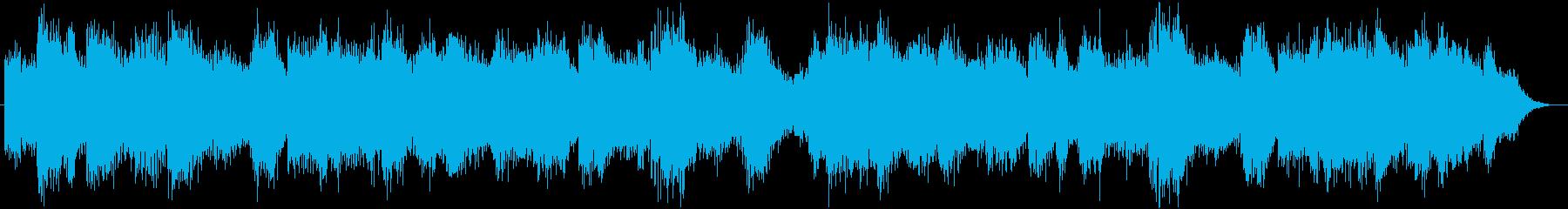 緊迫感を演出するホラー用BGMの再生済みの波形