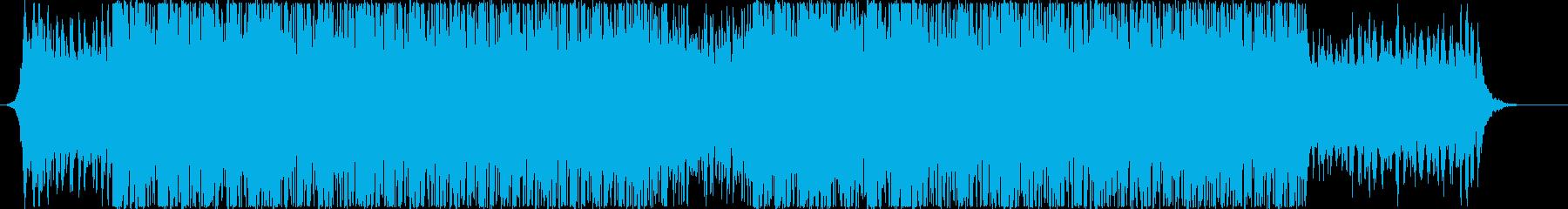 爽やかで疾走感のあるBGMの再生済みの波形