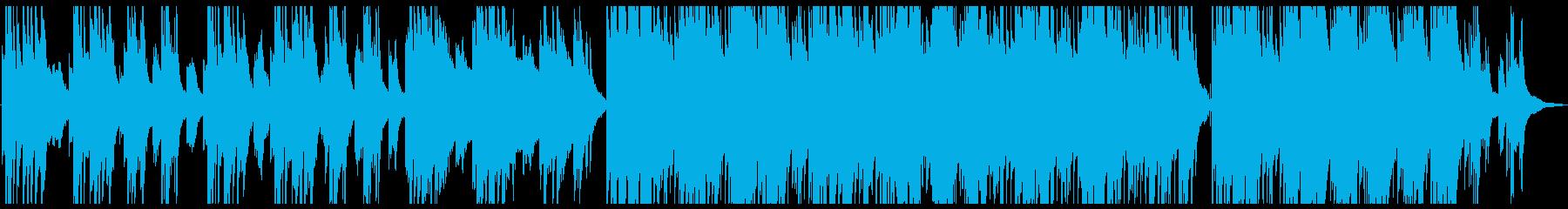 ピアノとアコギが印象的なしっとりBGMの再生済みの波形