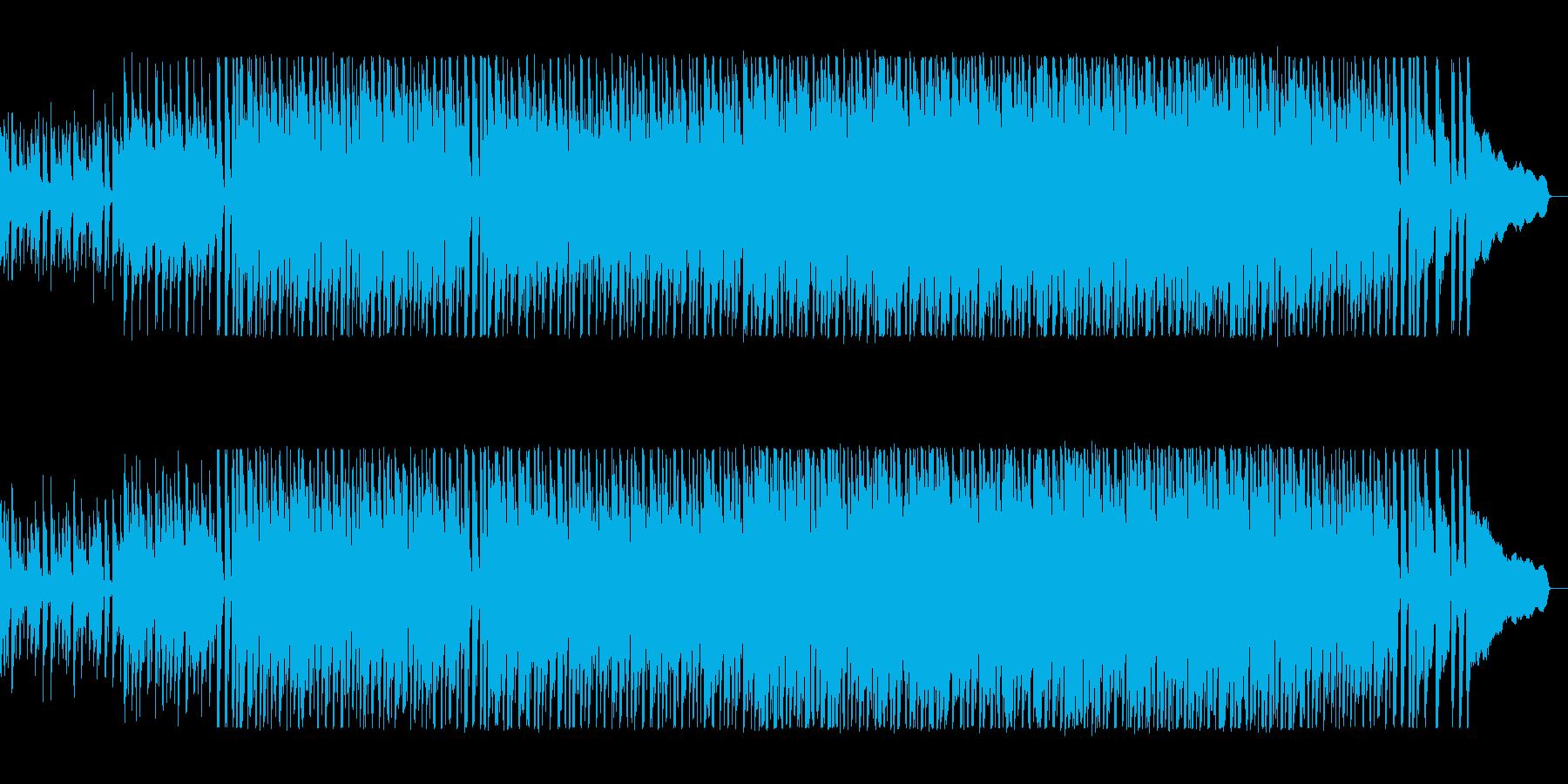 アップテンポの疾走感のあるシンセサイザーの再生済みの波形