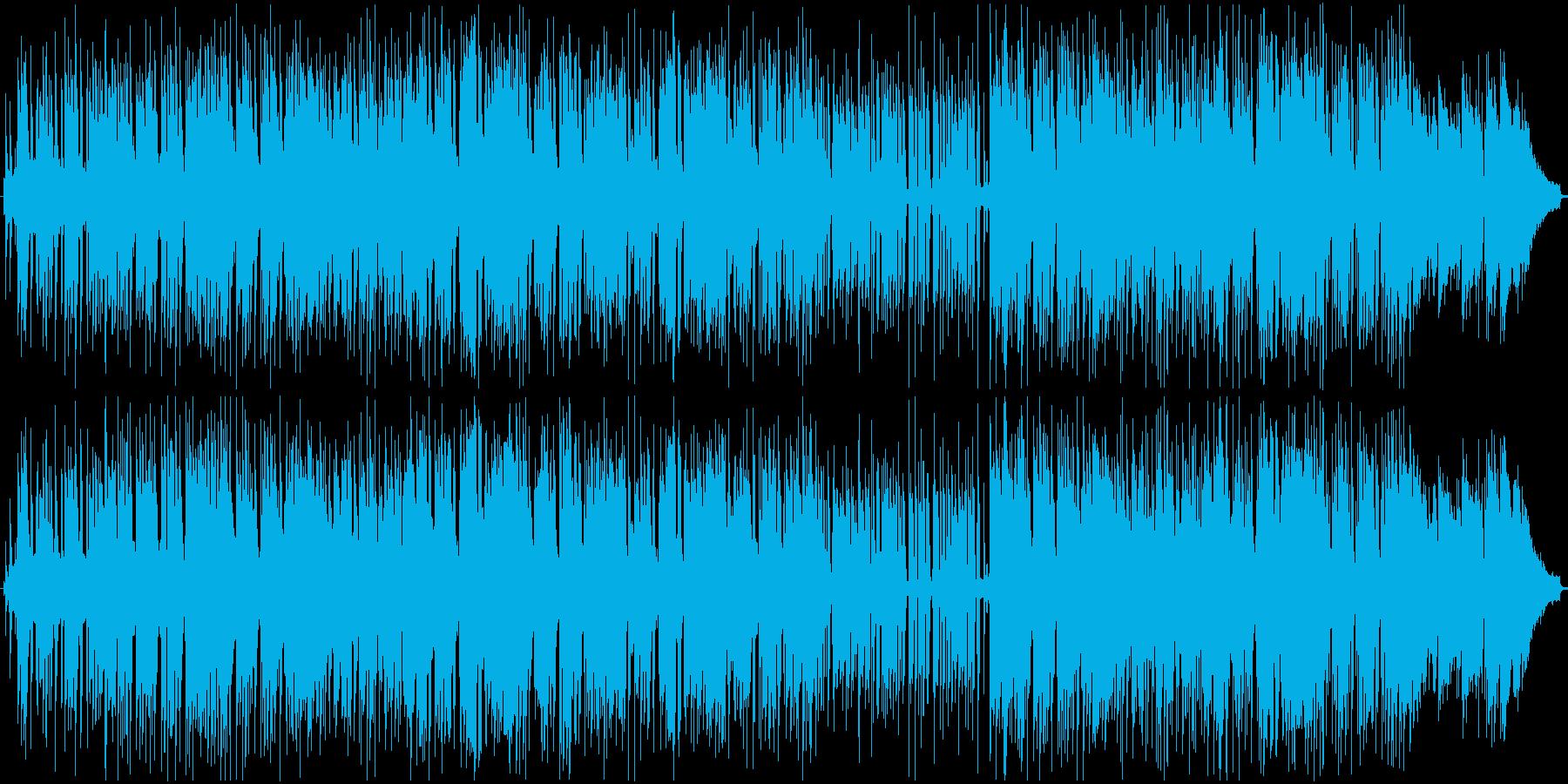 モダンサウンドと70年代のレトロスタイルの再生済みの波形