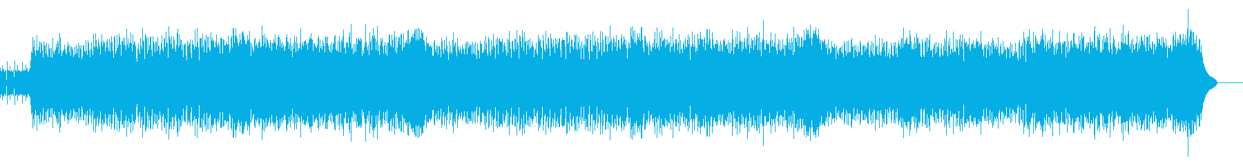インディーズロックバンド風の再生済みの波形