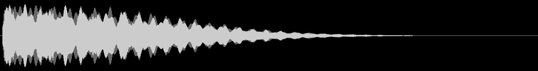 ごーん/お寺の鐘/和風/大晦日の未再生の波形