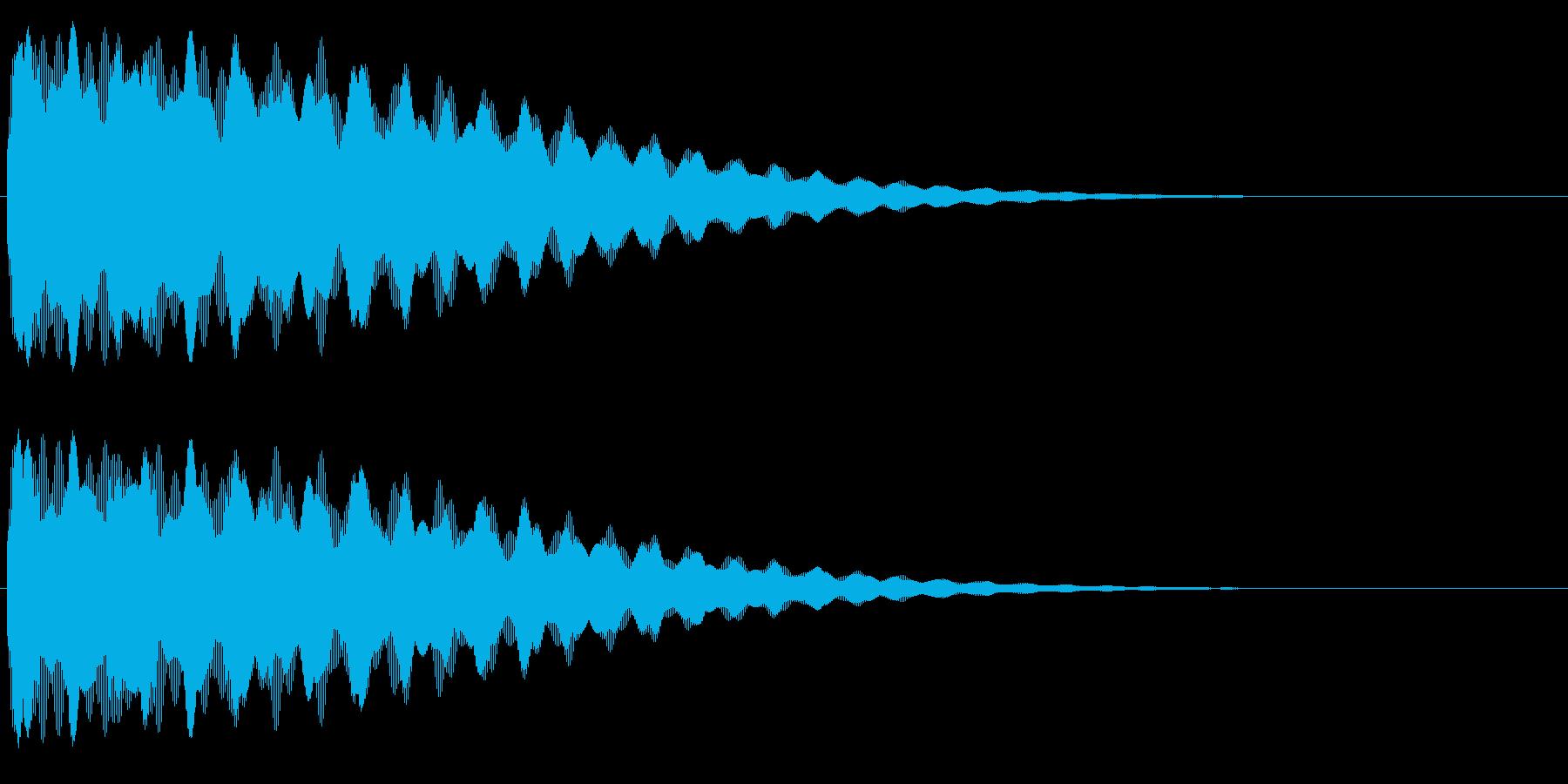 ごーん/お寺の鐘/和風/大晦日の再生済みの波形