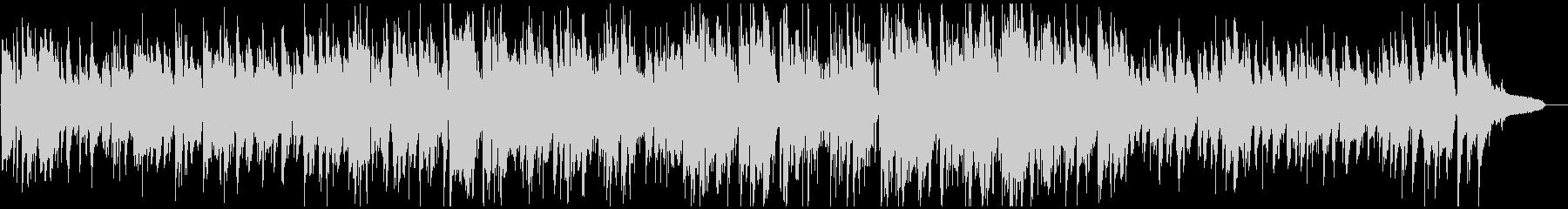 ほんわかサックスのアコースティックジャズの未再生の波形